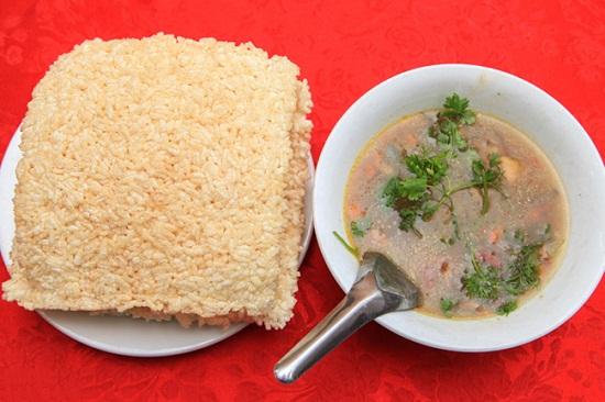 thịt dê cơm cháy Ninh Bình