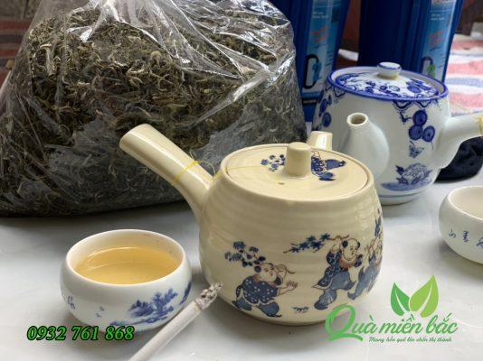 trà shan tuyết nước xanh, uống ngọt thơm