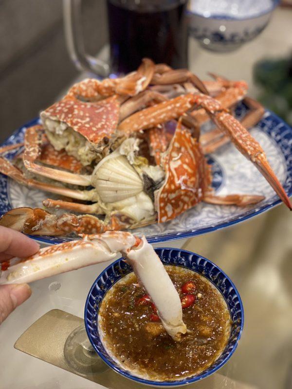 chẩm chéo chấm với hải sản