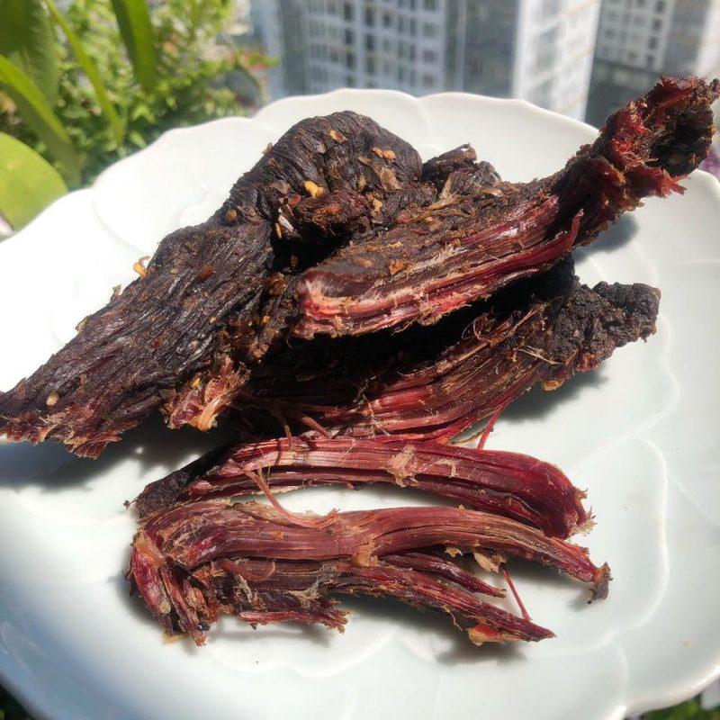 Đậm đà khó quên với hương vị thịt trâu gác bếp
