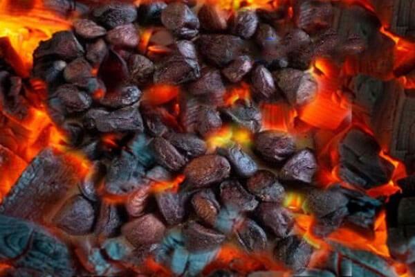 nướng hạt dổi để chế biến