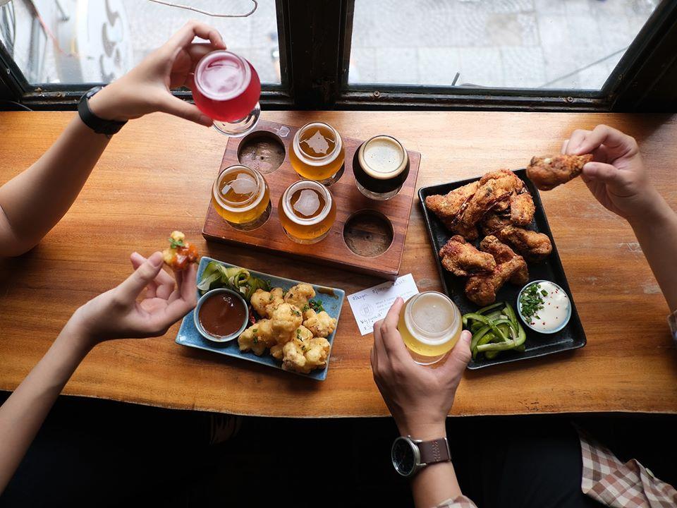 Món ăn của nhà hàng bia Pasteur Street phong phú, đa dạng